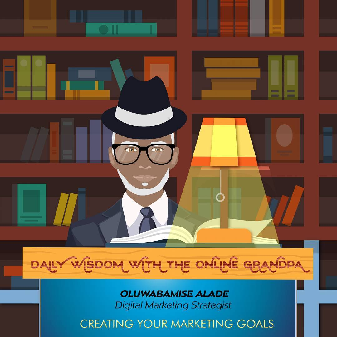 Online Grandpa, setting digital marketing goals